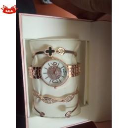 Fashion gold Set watch +...
