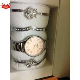 Silver Fashion  Set watch +...